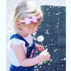 Your Little Miss Diadema con fiocco rosa