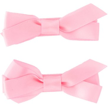 Your Little Miss Light pink hair clips with satin bow