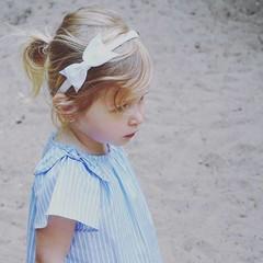 Your Little Miss Weißes Diadem mit Bogen