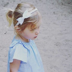 Your Little Miss Witte diadeem met strik
