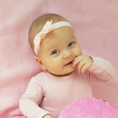 Your Little Miss Light pink baby hairband with bow