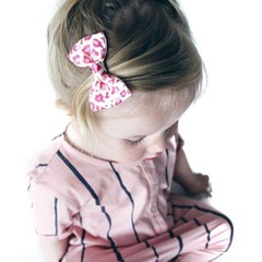 Your Little Miss Hair clip panterprint pink with bow