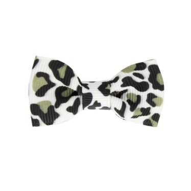 Your Little Miss Baby hair clip panther print black