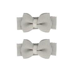 Your Little Miss Set mit zwei grauen Baby Haarspangen mit Schleife