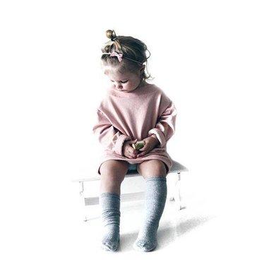 Your Little Miss Nylon Baby Haarband mit rosaner Lederschleife