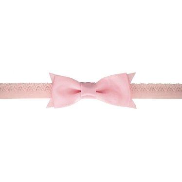 Your Little Miss rosa Neugeborenen Baby Haarband mit Spitze und Satinschleife