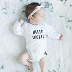 Your Little Miss weißes Neugeborenen Baby Haarband mit Spitze und Satinschleife