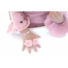 Your Little Miss kleines rosanes Haargummi mit Filzblume