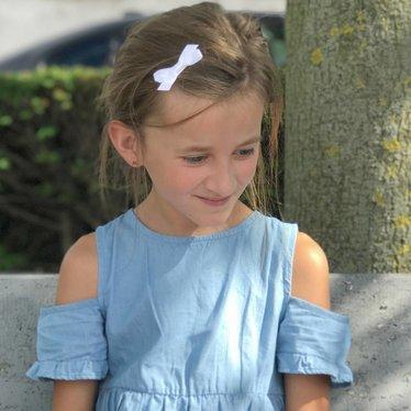 Your Little Miss weiße Haarspangen mit Satinschleife