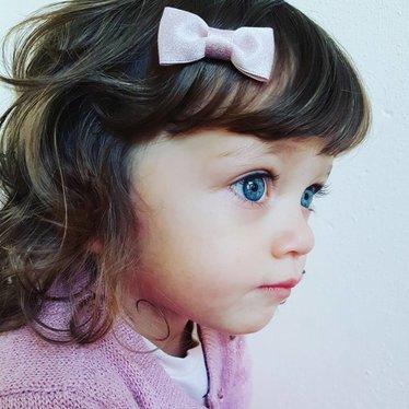 Your Little Miss Baby Haarspange mit rosa Glitzer