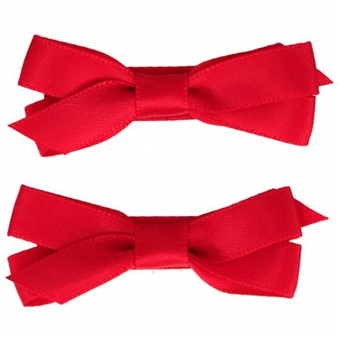 Your Little Miss Haarspangen mit roter Satinschleife