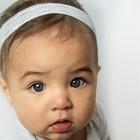 Your Little Miss Baby haarbandje wit kant