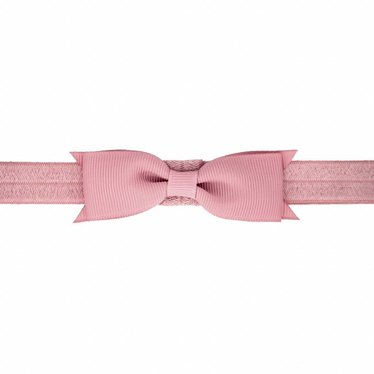 Your Little Miss Baby hairclips powder pink with bow