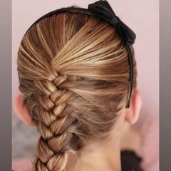 Your Little Miss schwarzer Satin Haarreif mit Schleife