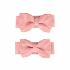 Your Little Miss Powder baby hairclips with bow