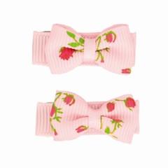 Your Little Miss Set mit zwei Baby Haarspangen in rosa mit Rosen