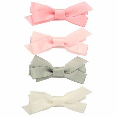 Your Little Miss Set Haarspangen mit Satinschleife - Pastell
