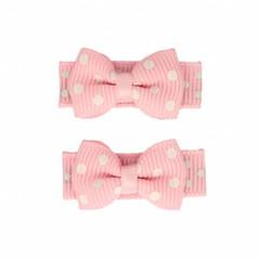 Your Little Miss rosa Baby Haarspangen mit Schleife und Punkten