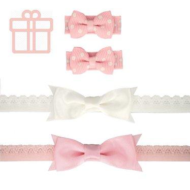 Your Little Miss Neugeborenen Geschenk mit Baby Haarspangen und zwei Neugeborenen Haarbändern
