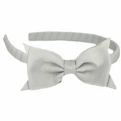 Your Little Miss Hairband bow gray