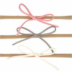 Your Little Miss Setje nylon haarbandjes met suede strik