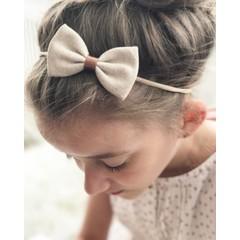 Your Little Miss Fascia per capelli per ragazza con fiocco in lino