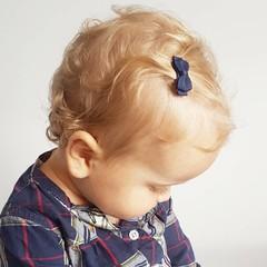 Your Little Miss dunkelblaue Baby Haarspangen mit Schleife