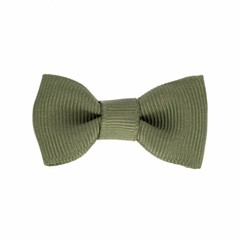 Your Little Miss Baby hair clip dark olive