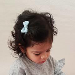 Your Little Miss Baby hair clip light denim