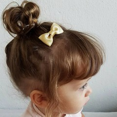 Your Little Miss Baby hair clip gold sparkle