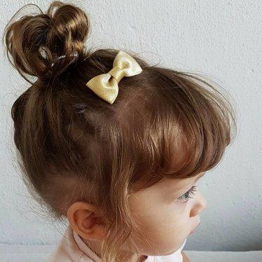 Your Little Miss Baby Haarspange in goldenem Glitzer