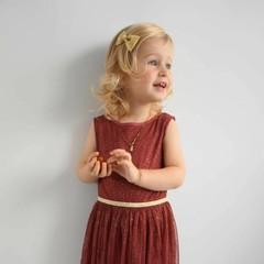 Your Little Miss Haarspange in goldenem Glitzer