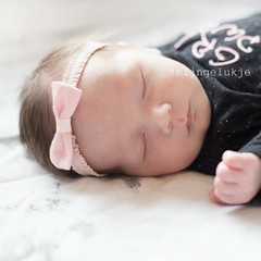 Your Little Miss Baby headband with bow volants roze