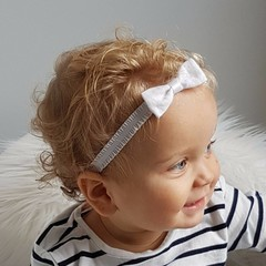 Your Little Miss Fascia per capelli con balze bianche