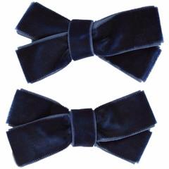 Your Little Miss Set of two hair clips blue velvet