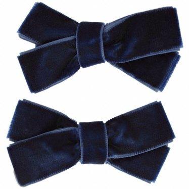 Your Little Miss Set mit zwei Samt Haarspangen in blau