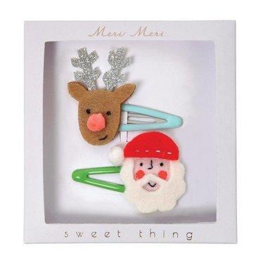 Meri Meri kerstmis haarspeldjes rendier en kerstman