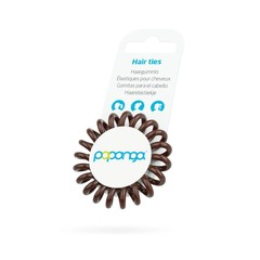 Papanga Papanga spiral hair elastic small chocolate