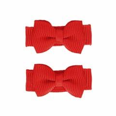 Your Little Miss Baby Haarspangen mit roter Schleife
