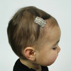 Your Little Miss Baby Hair clips with leopard print
