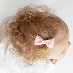 Your Little Miss Baby haarspeldje pink dots