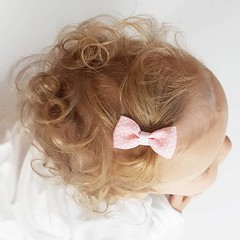 Your Little Miss Hair clip pink dots