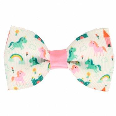 Your Little Miss Einhorn Haarspange mit Schleife in pink