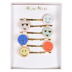 Meri Meri Hair pins smiley