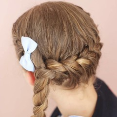 Your Little Miss Hair clip bluebell