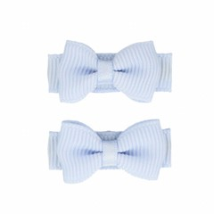 Your Little Miss Pastellblaue Baby Haarspangen mit Schleife