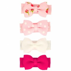 Your Little Miss Set of baby hair clips pink & sweet