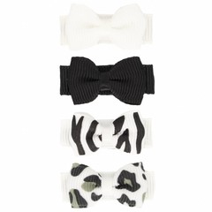 Your Little Miss Set of baby hair clips animal