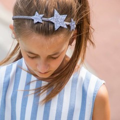 Your Little Miss Diadema grigio con stelle