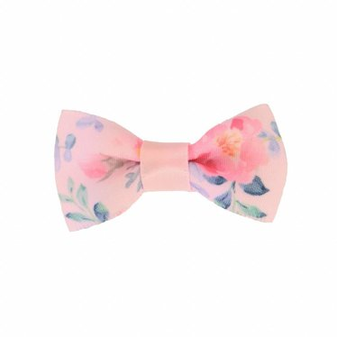 Your Little Miss Baby hair clip pink flowers